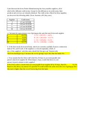 Finance 450 Module 5 Chapter 16 Problems with Corrections