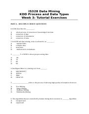 Tutorial 3 Exercises and Answers
