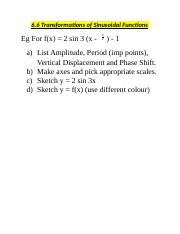 Pre Calc 12 6.6 pre Transformations of Sinusoidal Functions.docx