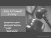 Week 2 Law 531 Torts and Criminal Liability Powerpoint Presentation