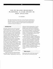 Berry 1991 - GIS in island resource planning.pdf