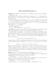 Worksheet 3 Solution