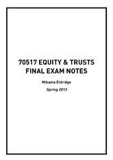 Equity and Trusts - Mikaela (1)