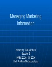 session 5 _ Managing Marketing Information