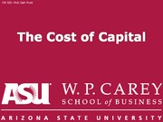 FIN302 12 Cost of capital