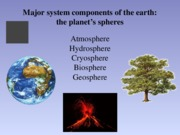 Lesson 3 Earth Spheres Powerpoint Notes