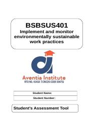 BSBSUS401 - Student Assessment Task (1).docx