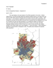 Assignment 5 - Map showing data Analysis of metro - Atlanta area - Geographical Analysis