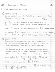 EAS475 Equations of Motion Notes