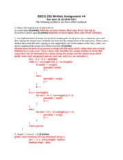 EECS 233 Written Assignment 4
