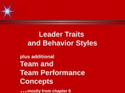 Leader Traits + personal notes