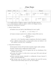 Class Notes -Robust 2