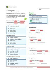 Level_8_Analogies_1 - READTHEORY Name Date A na l o g i e s 1 Level