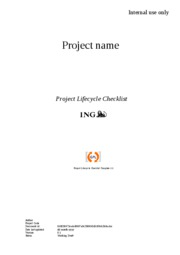 Project Lifecycle Checklist --template