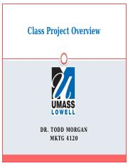 Class Project Overview