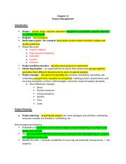 Chapter 11 - Project Management.docx