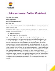 Writing High School Essays Eng Critical Essay Outline Mariapdf  Introduction And Outline  Worksheet Your Name Maria Salinas Eng Critical Essay Instructors Name  Danielle Research Proposal Essay Example also Essay Of Newspaper Eng Critical Essay Outline Mariapdf  Introduction And Outline  Sample Essay Thesis