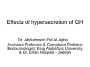 L10- effects of hypersecretion of GH- white & black