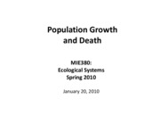Population growth and death