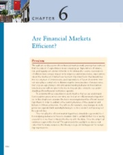 Chapter 6 Are Financial Markets Efficient