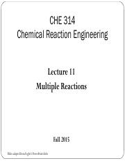 Lecture 11 -  Multiple Reactions (3)