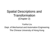 ch02_Spatial Descriptions and Transformation