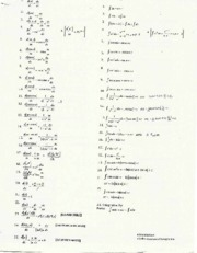 Derivatives & Integral list