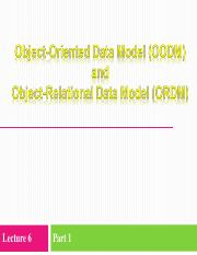 Lecture 6 (Part 1) - OODM and ORDM.ppt