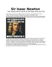 Isaac Newton History of Math.docx