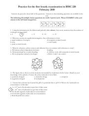 BISC220 - Exam 1 (2010, Spring)a