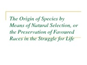 The Origin of Species by Means of Natural