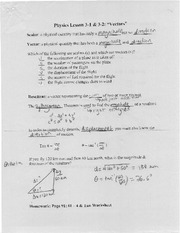 Notes on Vectors