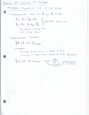 Leture Notes - Maxwell's Equations and E+M Waves
