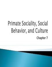 Lecture 7 - Chapter 7 - Primate behavior.ppt