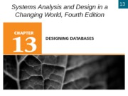 Chapter 13- Designing Databases