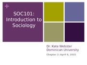Chapter 2 Powerpoint; Sociological Research Methods