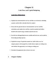 Cash Flows and Capital Budgeting Review