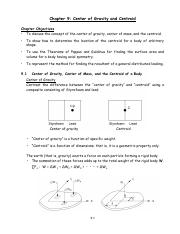 CN Chap09 - Center of Gravity and Centroid