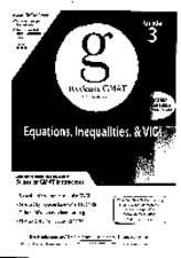 Manhattan GMAT Equation Inequalities VICs 4th edition - Guide 3