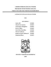 Laporan Praktikum Geologi Teknik Modul 6 Sondir Pdf Laboratorium Geologi Teknik Program Studi Teknik Geologi Fakultas Ilmu Dan Teknologi Kebumian Course Hero