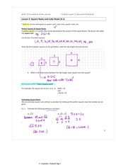 4.2 Square Roots and Cube Roots