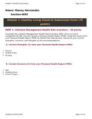 Module 1 Initial Healthy Living Check-In Form.docx
