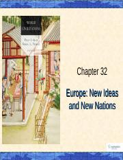 lecture_art_chapter32A_EUROPE NEW IDEAS AND NEW NATIONS