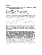 esm223_16_Reading_Sustainability of Groundwater - USGS Circular 1186