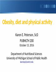 PH 200 2016 1013 Obesity Peterson FOR LEC