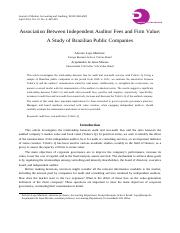 Association Between Independent Auditor Fees and Firm Value.pdf