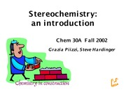 Stereochemistry Lecture Chem 30A fall 2002