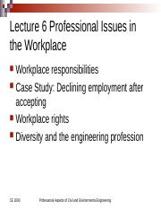 Lecture+6+CE+2090+2017+Spring,+Professional+Issues+in+the+Workplace