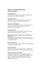 Notes on Advertising through Communication