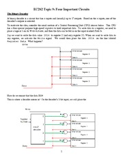 Decoders, Encoders, and Multiplexers Four Important Circuits student version